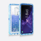 For Samsung Galaxy S9 /S9 plus Armor Shock Proof bling Glitter Liquid Case Cover