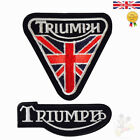 Triumph Motorcycle Biker Logo Embroidered Iron On Sew On Jacket Patch £1.99 GBP on eBay