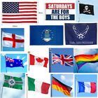 3 x 5ft Large National Country Flag Polyester Banner Decor - 28 Styles US