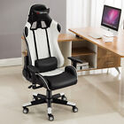 JL Comfurni Gaming Racing Chair Office Executive Recliner Adjustable Fx Leather