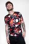 Occult Pentagram Bone Skull Horned Ram Flame Alternative T-shirt Top Gothic Emo