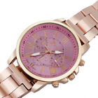 Geneva Roman Womens Number Stainless Steel Analog Quartz Sports Dial Wrist Watch