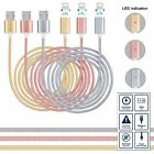 Strong Braided Magnetic USB Data Sync Charger Adapter Cable Lead For iPhone iPad
