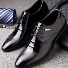 Mens Business Oxfords Leather Shoes Pointed Toe Formal Dress Casual Party Prom