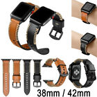 Free Ship Genuine Leather Wristwatch Strap Band For Apple Watch iWatch 38/42mm