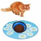 Pet Dog Cat Silicone Anti-slip Feeding Mat Pad Dish Bowl Mat Food Feed Placemat