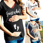 Plus Size Women Maternity Clothes Mommy Funny Cute Pregnant Pregnancy T-Shirt
