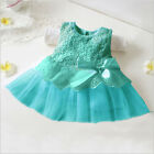 Newborn Baby Girl Tutu Dress Princess Party Lace Flower Dresses Wedding 0-12M