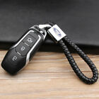 Car Logo Key Chain Fobs Leathe Weave Straps Keyring For Ford F-150 Focus Mustang