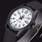 Infantry Military WATCH Army Mens Sport Canvas Quartz Wrist BLACK and WHITE FACE image