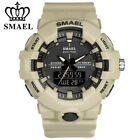 SMAEL Men Watch Shockproof LED Digital Wristwatch Dual Time Date Sport Watches image