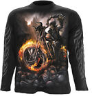 SPIRAL DIRECT WHEELS OF FIRE LongSleeve T-Shirt,Tee/Top/ Biker/Grim Reaper/Skull