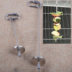 Birds Foraging Toys Parrot Fruits Fork Carabiner Feeder Skewer Cage Accessories