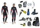 Mares Allrounder Complete Set diving equipment all sizes with Subgear Jacket,