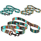 Nylon Dog Leash 5ft Training Lead for Dogs Puppy Pet Leashes Tribal S M L