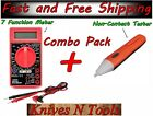 Digital Multimeter Non Contact AC Voltage Tester Meter Detector Tool Combo Pack