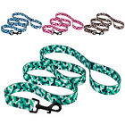 Camo Camouflage Dog Leash Lead 5 foot Nylon Leads Leashes S M L Blue Pink Green