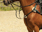 New 5 Point Breastplate Quality Leather and Pressure Pads Full Cob Brown Black