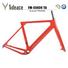 12*142mm Thru Axle Cyclocross Frame T800 Carbon Fiber Gravel Red Frame BB386