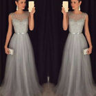 Women Wedding Bridesmaid Long Evening Party Ball Prom Gown Cocktail Dress S-XL