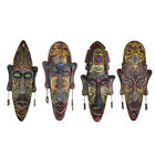 Vintage African Resin Face Mask Wall Hanging Pendant DIY 3D Colorful Murals