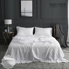 Simple&Opulence 100% Stone Washed Linen 4 Piece Embroidered Solid Sheet Set  image