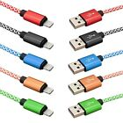 Weave Fast Charging Genuine Braided Data Sync Charger Cable Lead For iPhone iPad