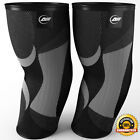 Elbow Compression Sleeve Pair Brace Arm Gym Tennis Golf Arthritis Tendonitis