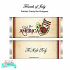 4th of July God Bless America Patriotic Candy Bar Wrappers SET of 12