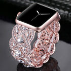 Kirsite Diamond Watch Band Bling Bracelet Wrist Strap For Apple Watch 38mm/42mm image