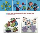 Assorted Flowers Mix - HANDMADE, CERAMIC MOSAIC TILES ( Pick you Group )  #11