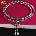 US Outdoor Self-Defense 108 Stainless Steel Silvery Beads Whip Bracelet Necklace
