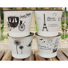 White Self Watering Flower Pot Home Garden Indoor Plants Planter Plastic