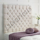 Chesterfield High Wall Panel Chenille Headboard - Choose size and Colour
