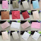 10PCS Personalized Lace Laser Cut Wedding Invitation Cards Free Envelopes Party