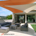 Beige Deluxe Right Triangle Sun Shade Sail Outdoor Canopy Patio Top Awning Lawn