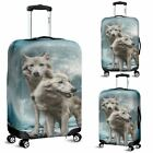 Wolf Moon Travel Luggage Cover 3 Sizes WOLF LOVERS Howling at the Moon Protectiv