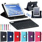 """US For Amazon Kindle Fire 7"""" 8"""" 10"""" Tablet Bluetooth Keyboard+Leather Case Cover"""