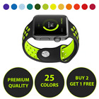 i watch apple - Replacement Silicone Sport Band For Apple Watch 38mm 42mm Series 3 2 1