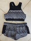 Seafolly Active Optic Wave Black & White High Neck Tank Top & Game On Short