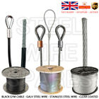 MULTI LIST Assembled Galvanised Steel Wire Rope Black Gym Cable Metal Lift Cable