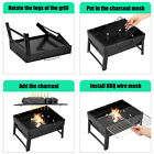 BBQ Barbecue Grill Folding Portable Charcoal Stove Camping Garden Outdoor Mini