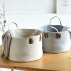 Woven Cotton Storage Basket Home Decor Baskets with Handles for Kid's Toy