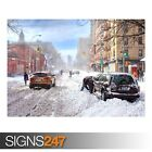 WINTER IN THE CITY (AE066) NATURE POSTER - Photo Poster Print Art A0 A1 A2 A3 A4