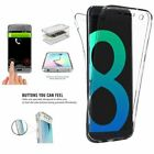 360° Full Body Shockproof Soft Clear TPU Gel Case Cover For Samsung Galaxy Phone