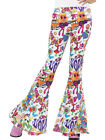 Adult's Womens 60s Flared Groovy Hippie Disco Pants Costume