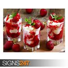 STRAWBERRY ICE CREAM DESSERT (AE440) - Photo Picture Poster Print Art A0 to A4