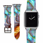 Smart Watch Multicolor Marble Strap Apple Watch Leather Bracelet iWatch Band