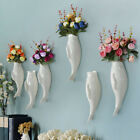 Fish Ceramic Wall Hanging Planter Vase Mural For Home Hotel Cafe Decoration