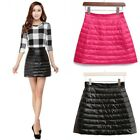 Duck Down Puffer Puffa Mini Skirts Lightly Quilted Padded Bubble Sexy Dress Slim